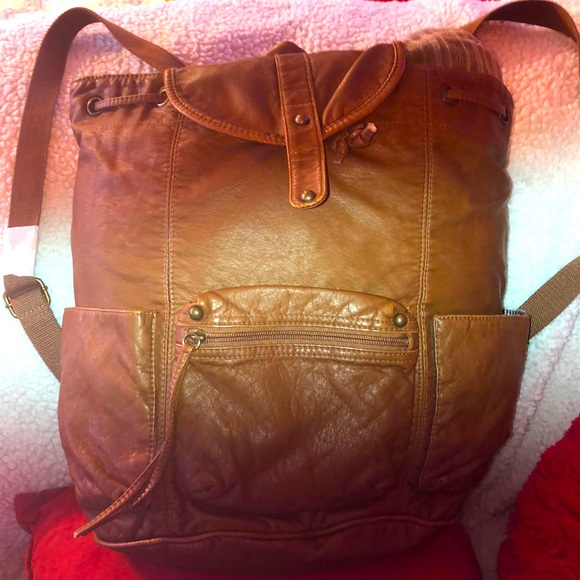 NWT American Eagle Sling Knapsack Backpack Brown